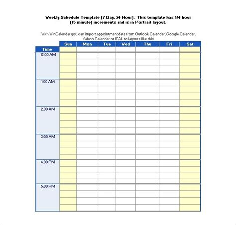 Free Excel Schedule Template by 24 Hour Daily Schedule Template Clickuk Org