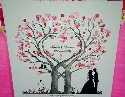 Hochzeit Fingerabdruck by Herz Wedding Tree Hochzeit Baum G 228 Stebuch Fingerabdruck