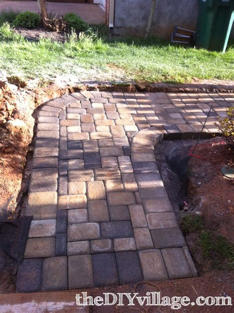paver path work but worth every sore the