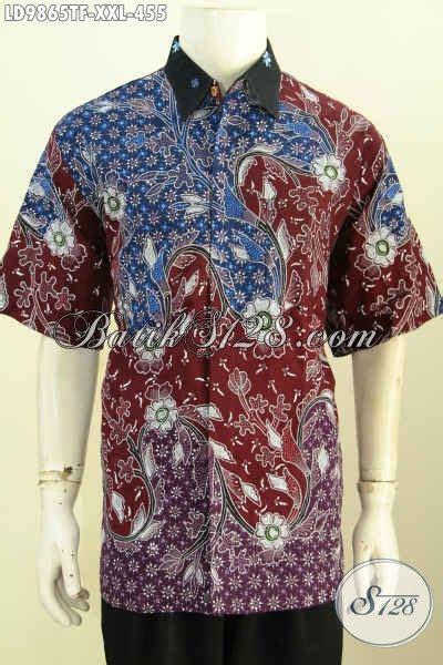 Kemeja Batik Pria Hem Batik Pria Soka Big Size hem batik big size lengan pendek kemeja batik premium furing motif mewah proses tulis