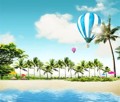 summer beach theme psd template psd templates free download