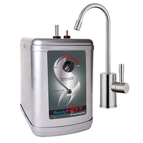 instant water dispenser ready instant water dispenser with chrome or brushed nickel faucet