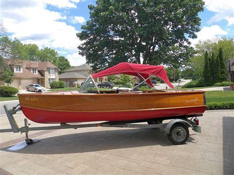 aluminum boats for sale peterborough peterborough nomad 16 1958 pristine cond 35hp johnson
