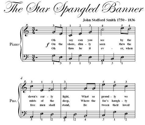 printable star spangled banner sheet music star spangled banner easy piano sheet music pdf ad