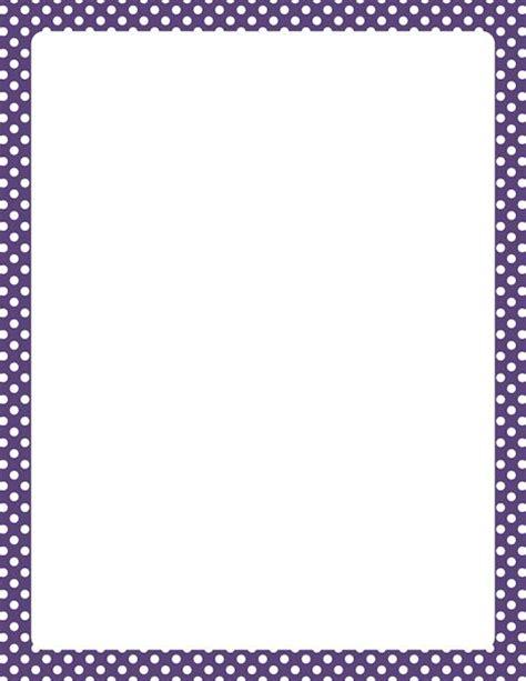 printable polka dot border paper printable purple and white polka dot border free gif jpg