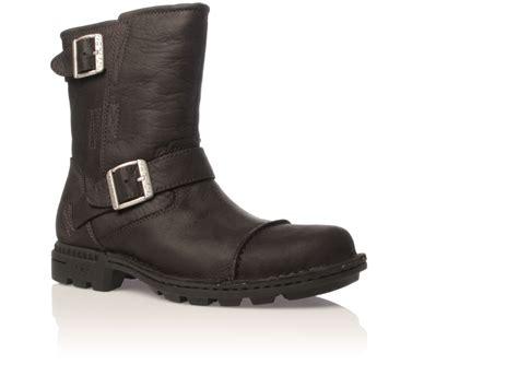 mens ugg rockville boots ugg rockville biker boot in black for lyst
