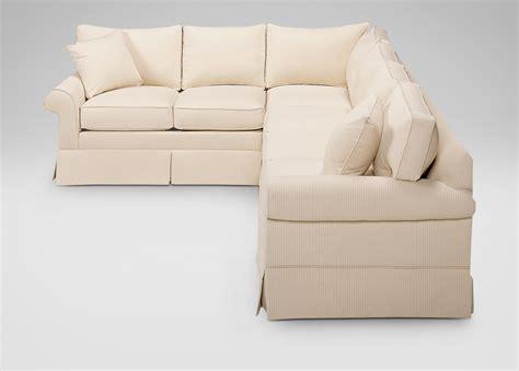 ethan allen sofa with chaise ethan allen bennett sofa dimensions refil sofa