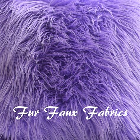 Sheepskin Upholstery Fabric by Lavender Mongolian Plush Fur Faux Fabric By The Yard Remnants