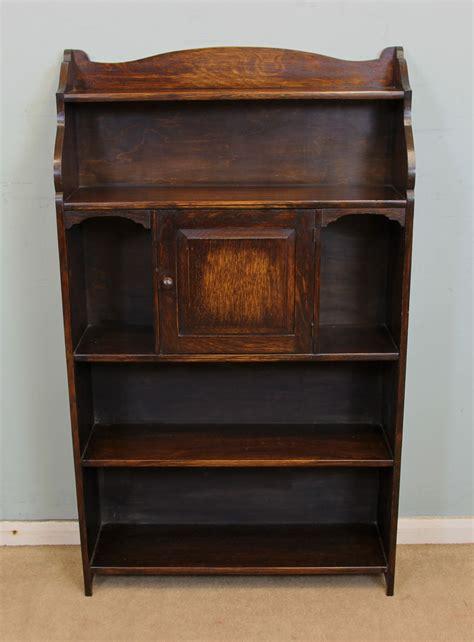 Silky Oak Bookcase Open Shelf Antique Georgian Edwardian Furniture The