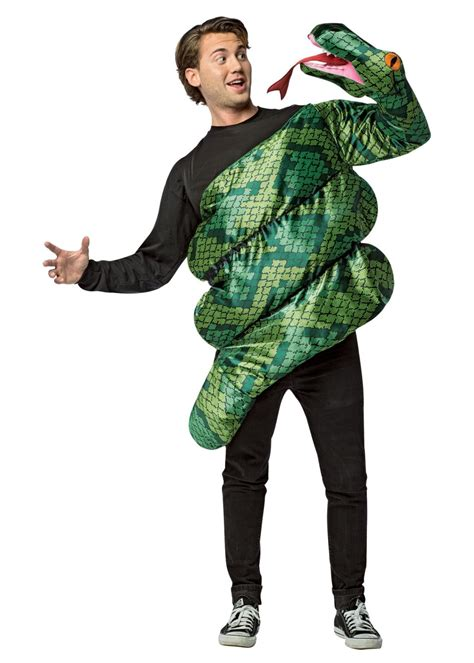 mens green anaconda costume animal costumes