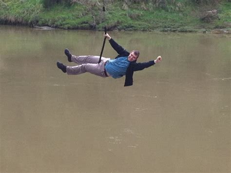 awesome rope swing rope swing over the whanganui river not your average