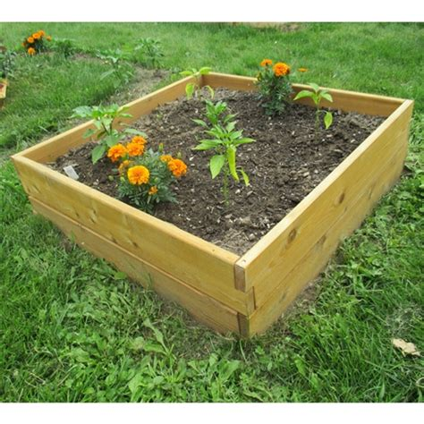 cedar raised garden bed kit cedar wood 3 ft x 3 ft x 11 inch raised garden bed kit