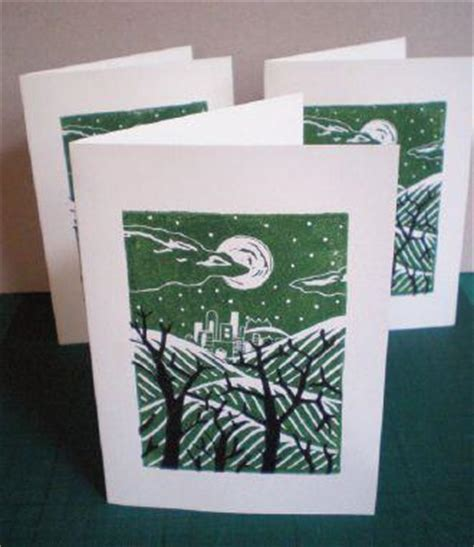Lino Cut Cards by Print Your Own Seasonal Greetings Cards Using Linocut