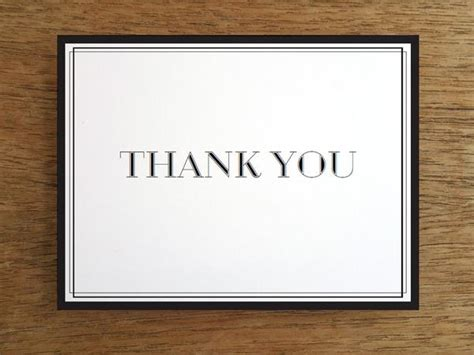 Printable Thank You Card Classic Black And White E M Papers Shopify Thank You Page Template