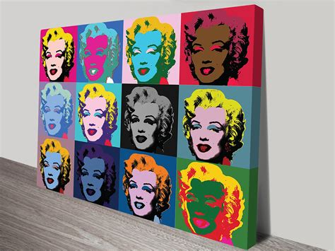 pop marilyn one of two prints of the marilyn design by