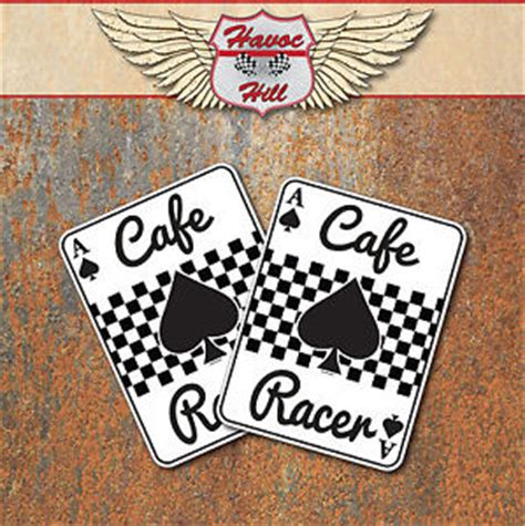 Motorrad Aufkleber Cafe Racer by Cafe Racer Pik Ass Sticker Klassisches Motorrad Motorrad