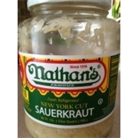 nathan s calories nathan s sauerkraut new york cut calories nutrition analysis more fooducate