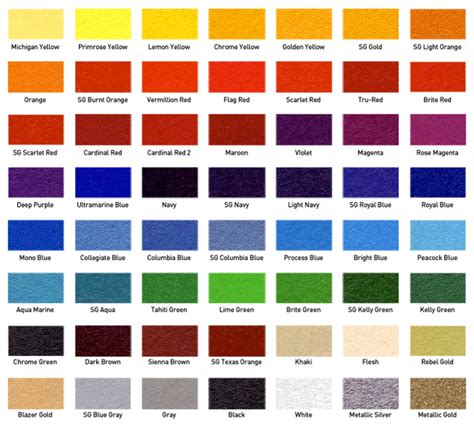 color options screen printing ink color options branded