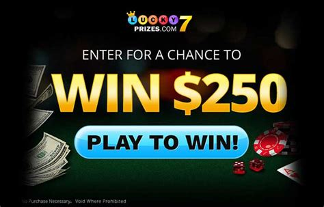 Lucky 7 Sweepstakes - lucky 7 prizes us only