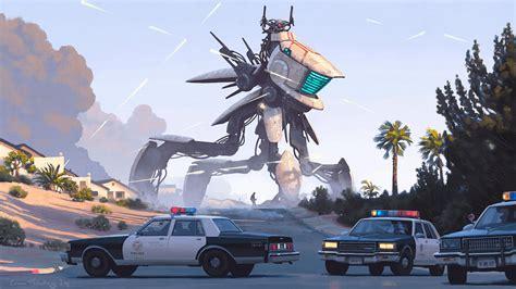 film robot dinosaurus simon st 229 lenhag concept art world