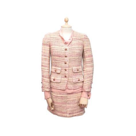 38 Jaket Jupe tailleur chanel 36 38 s m veste chemisier jupe