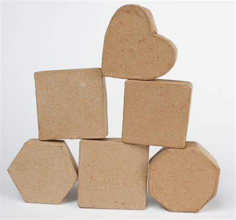 Paper Craft Boxes - set of 6 mini paper mache boxes paper mache basic