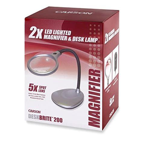 carson magnifier desk l carson deskbrite200 led lighted 2x magnifier and desk l