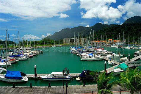 yacht langkawi royal langkawi yacht club marina editorial stock photo