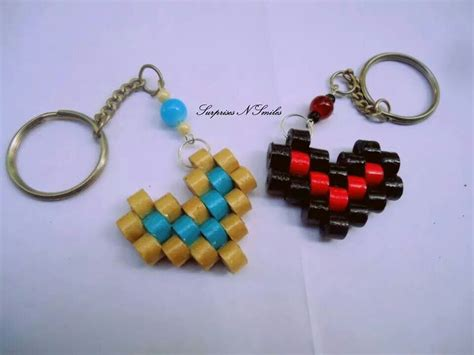 How To Make Paper Keychains - by janani paper quilling key chains