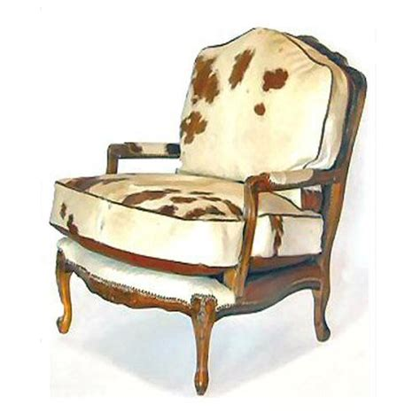 cowhide armchair bergere brown and white cowhide chair