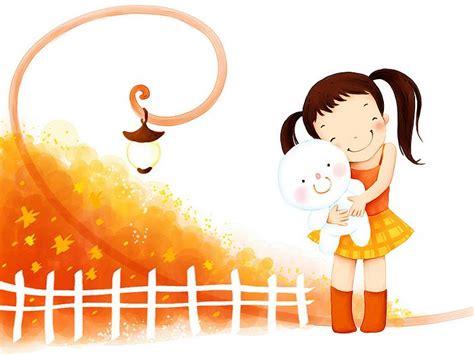 wallpapers imagenes religiosas animadas 可愛小女孩卡通圖片 韓國插畫22 貓貓桌布酷 wallcoo com