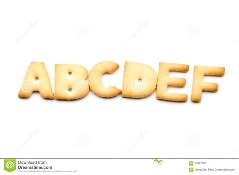 Letter Biscuit Letter Abcdef Biscuit Stock Photo Image 55967500