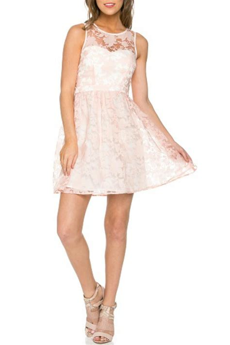 27858 Pink Lace Dress minuet floral lace dress from newport by rochelle s shoptiques
