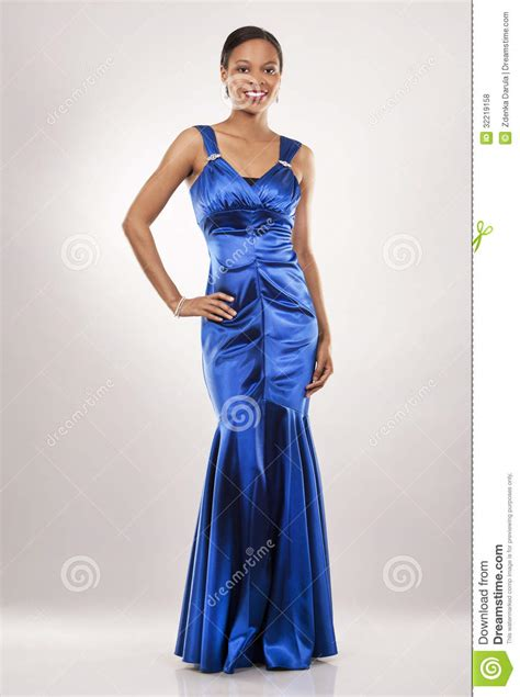 name of black women in blue dress in viagra commercial black woman in evening gown royalty free stock photos