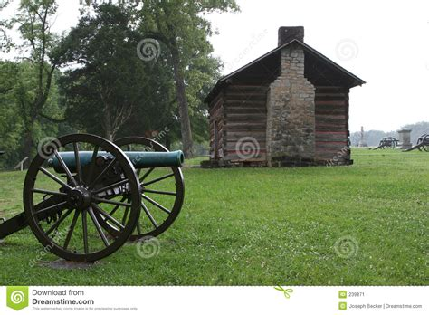 cannon cabins cannon and cabin stock image image of states battlefield