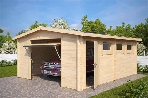 large garages large log garage hansa b with up and over door 44mm 4