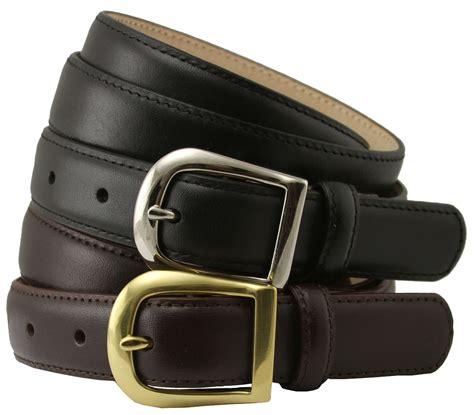 womens italian calfskin leather dress belt 1 quot wide