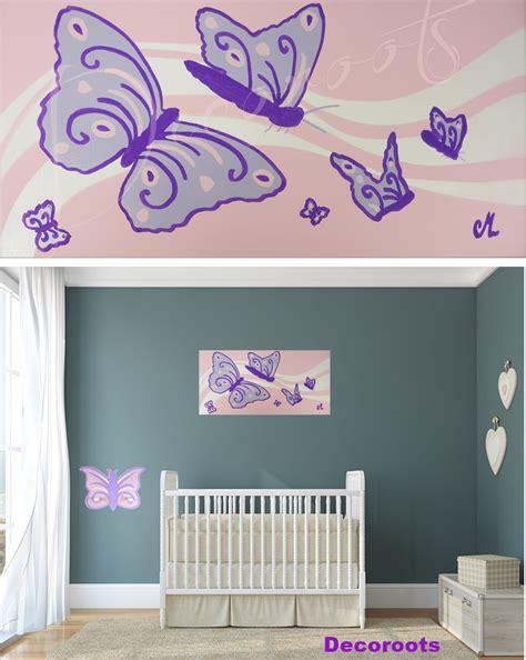 chambre bébé papillon stickers arbre blanc chambre bebe