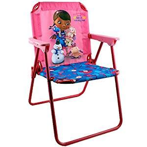doc mcstuffins armchair amazon com disney doc mcstuffins patio chair toys games