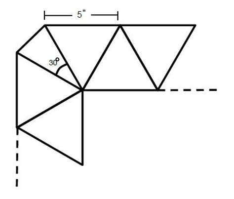 triangle pattern problem equilateral triangles sat math