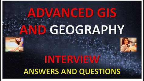 advanced gis and geography answers and questions