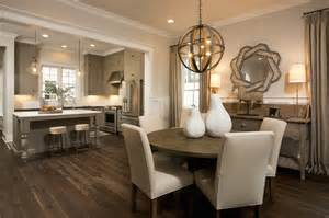 open kitchen to dining room transitional dining room