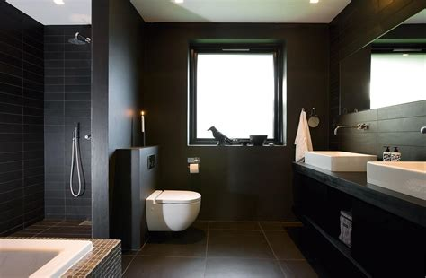 bathroom dark black modern bathroom photo bathroom design pinterest