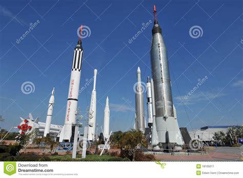 Raket Usa de tuin de raket nasa redactionele fotografie