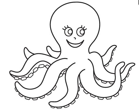 Coloring Page Octopus by Octopus Coloring Pages Preschool And Kindergarten