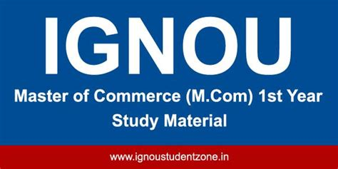 Ignou Mba Study Material by Ignou M 1st Year Study Material Ignou Student Zone