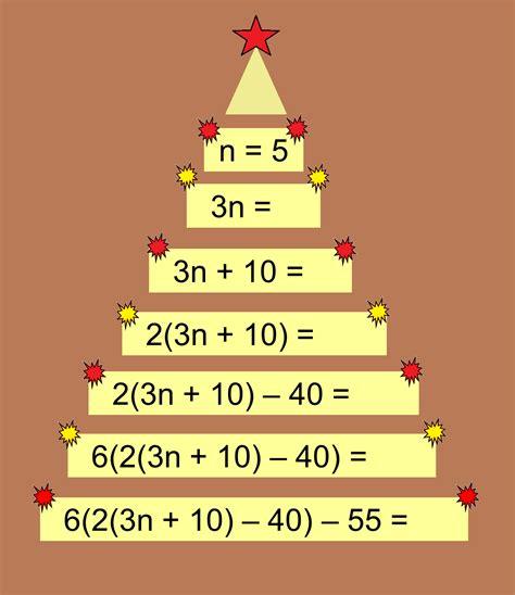 the christmas tree math problem median don steward mathematics teaching developing