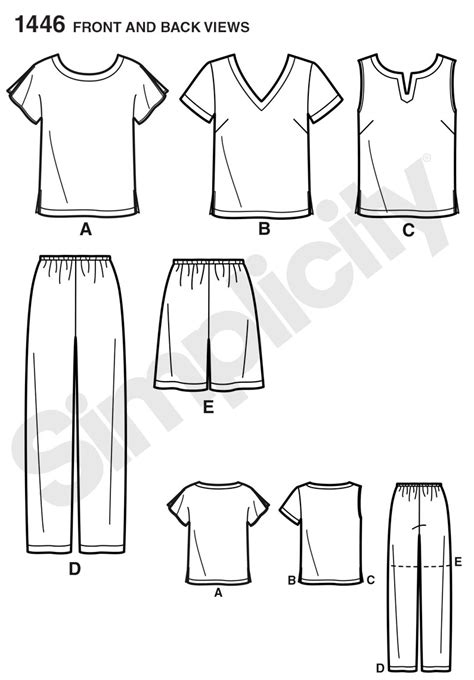 pattern review best patterns 2014 simplicity 1446 six made easy pull on tops and pants or