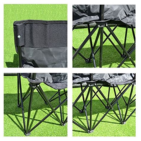 folding team bench benefitusa 4 seater sideline portable folding team sports bench sits outdoor waterproof black