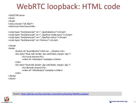 webrtc tutorial github developing rich multimedia applications with kurento a
